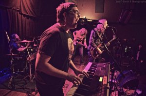 Luke Crary killin' it on keys with Jon Stover, Dustin Skelley and Andy Christoffersen in the back photo by Ferris.B Photography